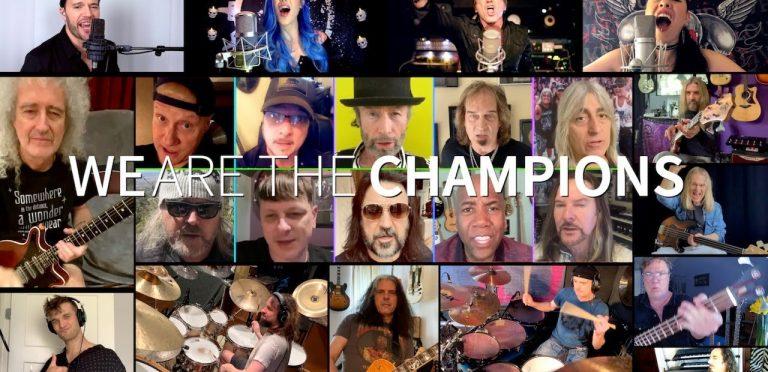 "Bryan May, Alissa White-Gluz y varios músicos graban ""You Are The Champions"""