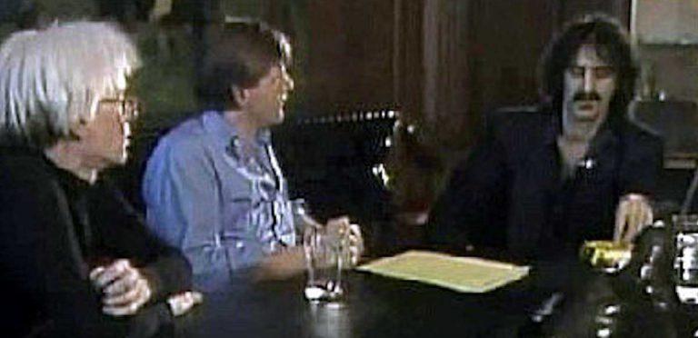La incómoda entrevista entre Andy Warhol y Frank Zappa
