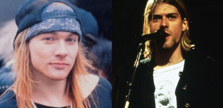 Así fue la pelea entre Kurt Cobain y Axl Rose en los MTV VMAs 1992